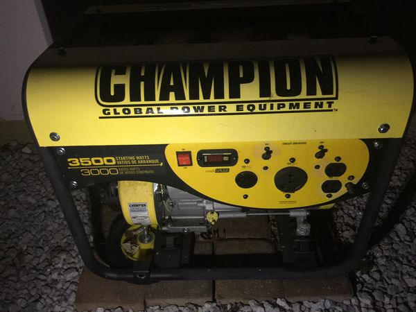 Champion 3000/3500 watt Generator barley used