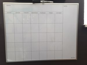 Whiteboard Calendar With Marker for Sale in San Jose, CA