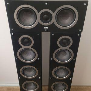 Elac Audiophile Floorstanding And Center Speakers Like Polk Jbl Svs Klipsch for Sale in Garden Grove, CA