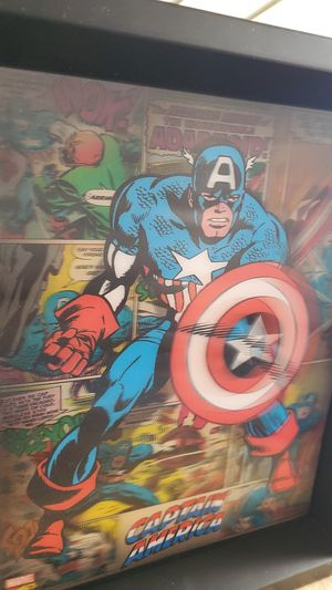Captain America 3d black frame 8x10 for Sale in West Covina, CA