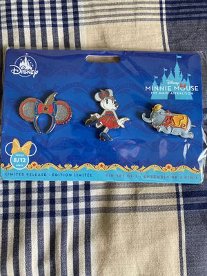 Disney Minnie Mouse The Main Attraction Dumbo Pin Set for Sale in Clayton, CA