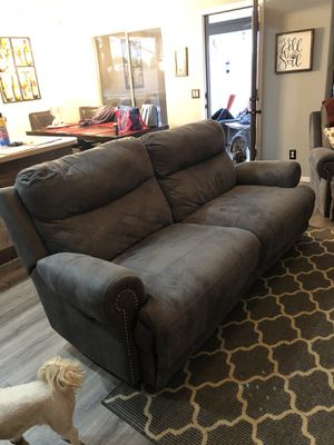 Gray Sofa Recliner and Oversized Recliner Chair for Sale in Chandler, AZ