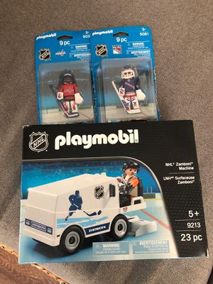 Playmobil nhl zamboni and rangers and capital figures for Sale in West Caldwell, NJ