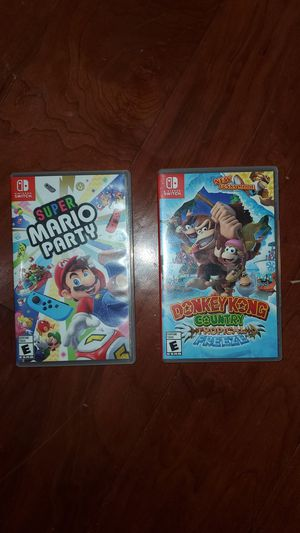 two games of Nintendo switch Donkey Kong country Super Mario Party for Sale in Alexandria, VA