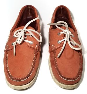 Sebago Docksides Women Size 7.5M Brown Leather Boat Deck Shoes for Sale in Austin, TX