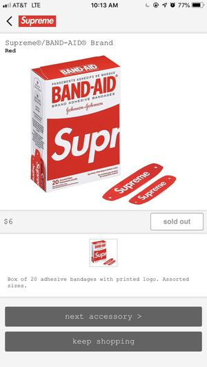 Supreme bandaids and cough drops for Sale in Naperville, IL
