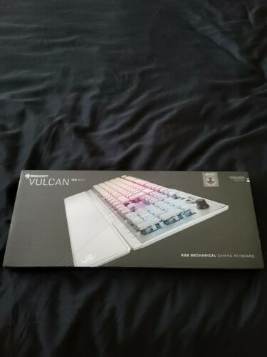 New ROCCAT Vulcan 122 Aimo PC Gaming Keyboard Brown Titan Switch - White