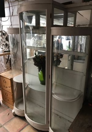 Antique display cabinet 4 feet wide by 74 inches tall by 16 inches depth for Sale in Los Angeles, CA