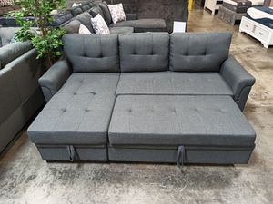 Sectional Sofa with Pull Out Bed , Grey for Sale in Santa Fe Springs, CA