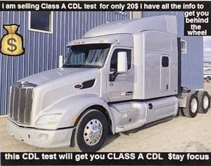 I Have CDL test for the low they charging 60 and 75 I'll give it to you dirt cheap 20$ for Sale in Halethorpe, MD