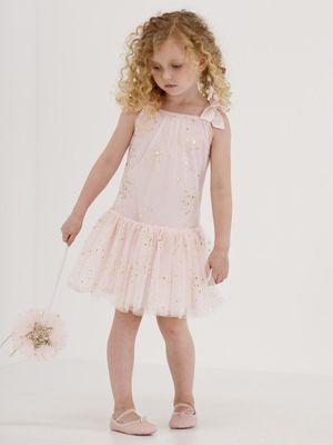 Dress size 3 - like new Kate Mack Pink & Gold Shimmer Dress for Sale in Alexandria, VA