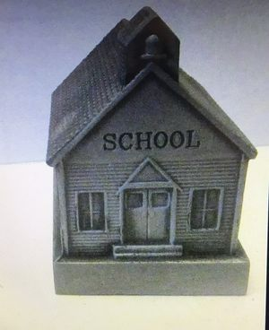 Pewter school house bank for Sale in Everett, WA
