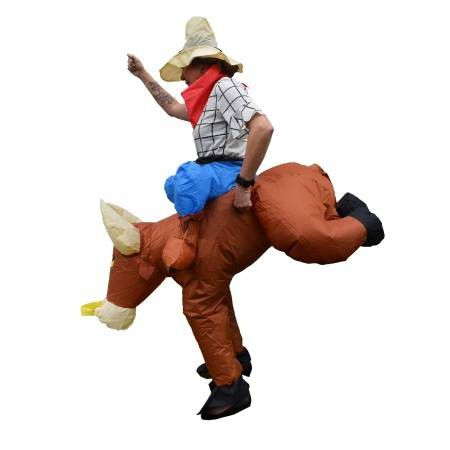 Inflatable Party Costume - Bull Rider Cowboy - Adult Sized
