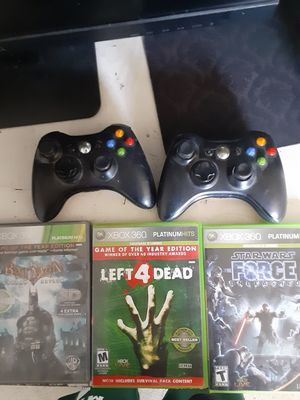Two xbox 360 controllers and a few games for Sale in Rosemead, CA