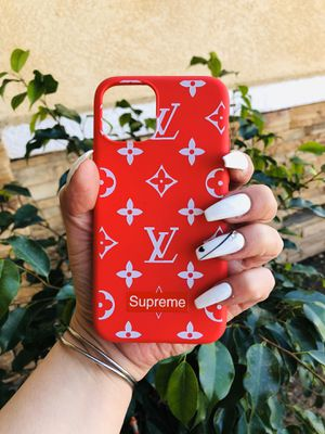 Brand new cool iphone 11 PRO case cover rubber red supreme designer fashion mens guys hypebeast hypebae womens girls hype swag for Sale in San Bernardino, CA