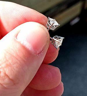 Princess cut 3/4 carat diamond earrings for Sale in Brook Park, OH