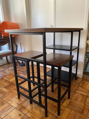 modern bar table with 2 stools for Sale in Rockville, MD