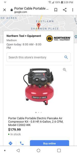 Portal cable air compressor for Sale in Nashville, TN