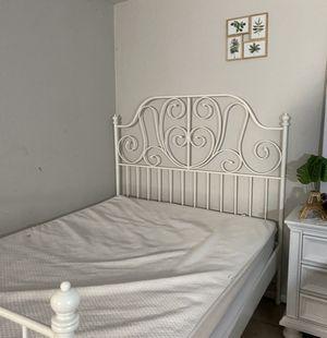 White bed frame for Sale in Santa Ana, CA