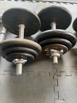 2 - 40 lb adjustable dumbbell weights - 80 lbs total for Sale in Snohomish, WA