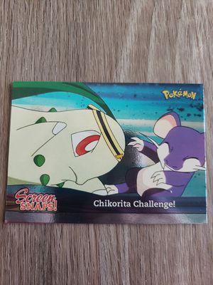 Topps Screen Snaps Chikorita Challenge pokemon holo for Sale in Davenport, FL