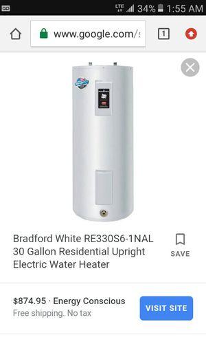 Bradford White electric water heater 30 Gallon for Sale in Dallas, TX
