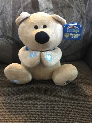 Bible Toys Prayer Bear w/ book and backpack for Sale in Granite City, IL