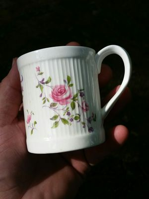 Antique vintage Crown Staffordshire rose cup bone China for Sale in Lodi, NJ
