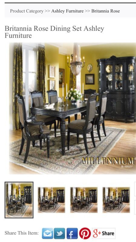 Ashley Millennium Britannia Rose Collection Dining Room Table For Sale In Clayton Nc Offerup