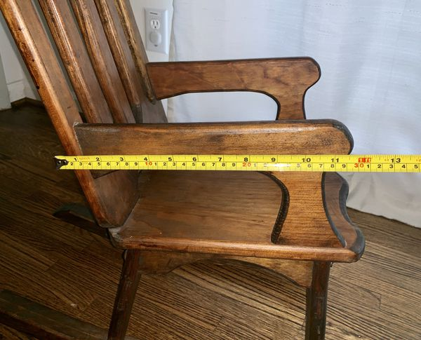 Antique Wooden Baby Doll or Children's Rocking Chair