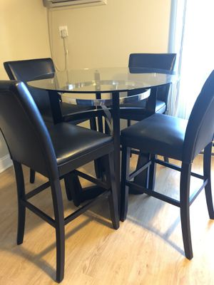 Bar height glass top table for Sale in Monroeville, PA
