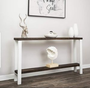 """60"""" entry console metal frame pine wood top New for Sale in Houston, TX"""
