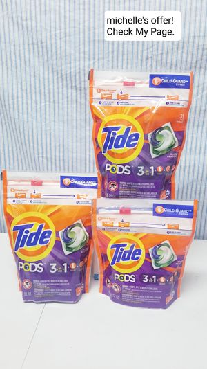 Tide pods 3in1 16ct-31 ct set/ Spring meadow for Sale in Clinton, MD