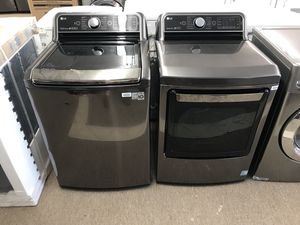 Brand new LG ultra capacity washer and dryer with steam for Sale in Houston, TX