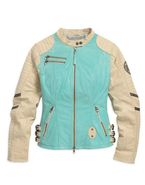 Harley Davidson Women's turquoise Leather Jacket for Sale in Portland, OR