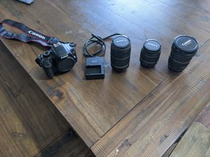 Canon Digital Rebel T2i with 3 lenses for Sale in Ridgefield, WA