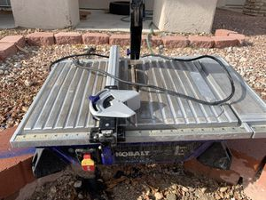 "Kobalt 7"" Wet Tile Saw With Extension & Still Good Blade! for Sale in Las Vegas, NV"