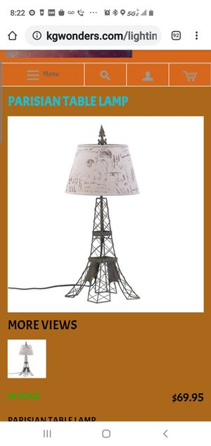 Eiffel Tower table/ nightstand lamp for Sale in Las Vegas, NV