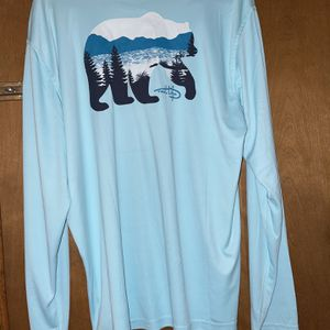 Men's Fishing Shirts XL Reel Life Soft Blue for Sale in Jamestown, NC