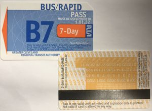 RTA BUS PASS 7 DAY WEEKLY LOW PRICE for Sale in Cleveland, OH