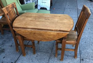 """#100442 Dinette Set: Drop Leaf Table 41.5"""" When Open, 23.5"""" When Closed x 30"""" Tall Plus 4 Chairs for Sale in Oakland, CA"""