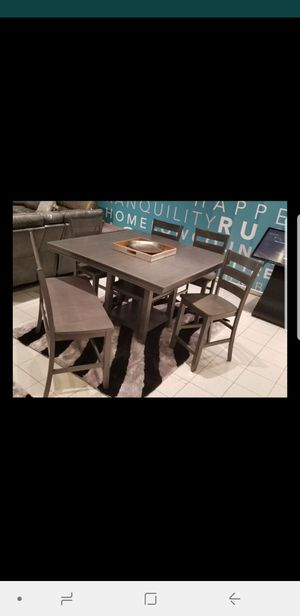 NEW GREY PUB HEIGHT DINING TABLE for Sale in Charleston, SC