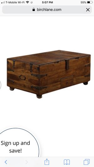 Two trunks: Coffee and side table (wooded trunks with storage) for Sale in Fairfax, VA