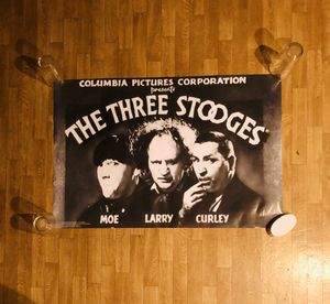"""Three Stooges Poster - 36"""" X 24"""" - Mint Condition for Sale in Burien, WA"""