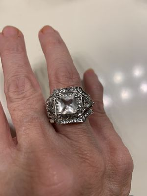 New 3 piece CZ sterling silver wedding ring size 7 for Sale in Palatine, IL