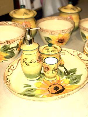 Sunflower 🌻 Ceramic Kitchen Set - 14 Piece | Good Quality | Se habla español 🦋 for Sale in Chino, CA