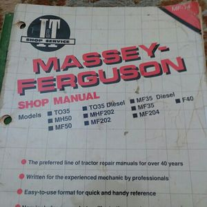 Manual Massey Ferguson Shop for Sale in Valparaiso, IN