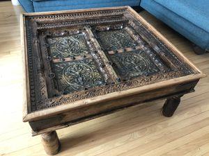 Mediterranean Chai antique reclaimed door coffee table for Sale in Los Angeles, CA