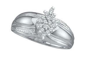Sterling Silver Women's Diamond Cluster Ring for Sale in Wichita, KS
