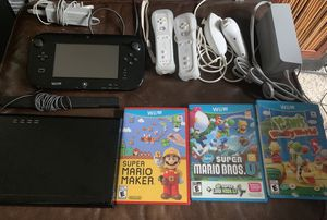 Nintendo Wii U 32GB System w/ Mario & Yoshi Games, Controllers & More for Sale in Pendleton, IN